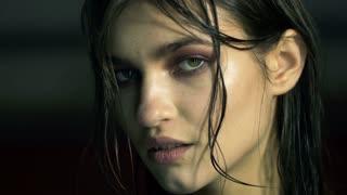 Beautiful young girl fashion image