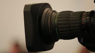Big camera lens used by television channels