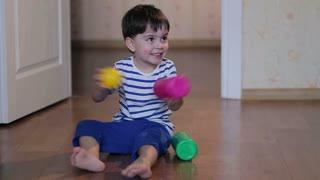 boy does exercises