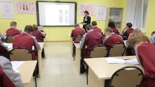 Demetrius Agricultural College. Students at the school, theoretical lessons