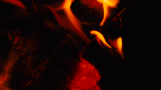 Fire. The flames on a black background