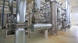 grain processing plant Large storage space and metal pipes