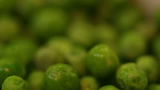 Green peas after thawing