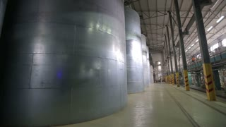 Industrial grain dryer. storage and further processing of grain