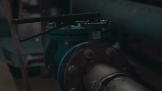 Joints of pipes. Industrial water filtration and ionizer system