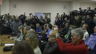Kazakhstan Baikonur Launch 17 November 2016A large number of media following the development of events in front of the spacecraft flight
