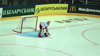 Minsk, Belarus - September 1, 2016: Belarus: Denmark Olympic qualification. Minsk-Arena
