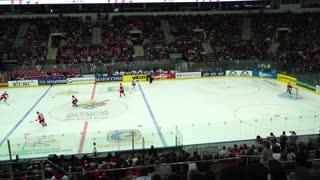 Minsk, Belarus - September 1, 2016: Belarus: Denmark Olympic qualification. Minsk-Arena