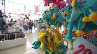 Pattaya, Thailand on November 24 Souvenir hats in the shape of an elephant's head on a mini market