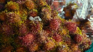 rambutan sweet delicious fruit. background of fresh Thai rambutans. .