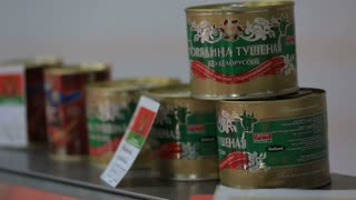 Russia ,Belgorod -September 12, 2016 Grocery store. Cheese and sausage department store. The choice of goods