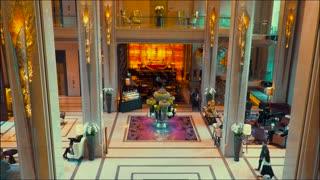 Thailand Bangkok November 20 Luxury hotel lobby in Bangkok. Asian luxury