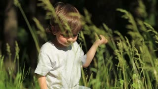The child in the grass