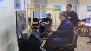 training on driving techniques on simulators, tractors and excavators