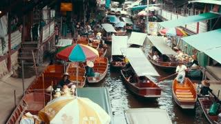 Pattaya, Thailand, November 28 The bustle of a floating market near Bangkok. . .