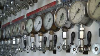 Pressure gauges on the old ship