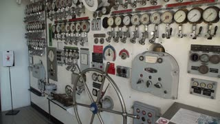 Pressure gauges on the old ship