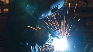 Welding on an industrial plant