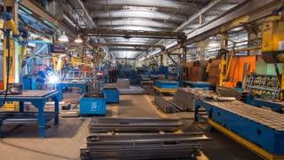 Welding machines emit veyerverk of sparks