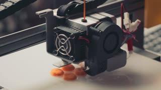 Work 3D printer closeup. New technologies
