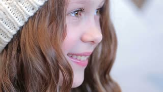Young girl with beautiful eyes, unearthly beauty
