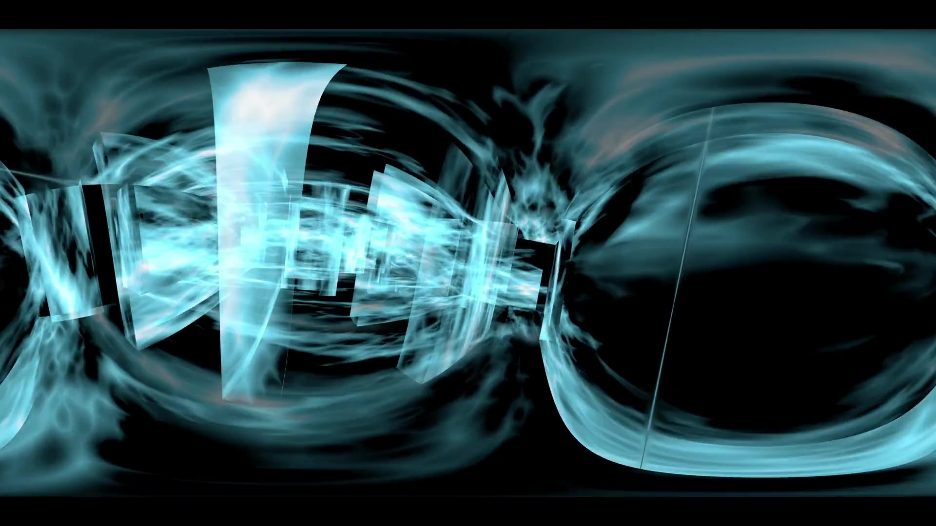360 VR Maze 005: Virtual reality video inside a maze of plasma light (Loop). Designed to be used in Oculus Rift, Samsung Gear VR and other virtual reality displays.