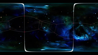 360 VR Space 3019: Virtual reality video flying through star fields and a plexus tunnel in space (Loop). Designed to be used in Oculus Rift, Samsung Gear VR and other virtual reality displays.