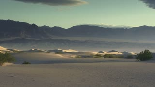 Dunes 002: A soft desert wind blows over Death Valley sand dunes (Loop).