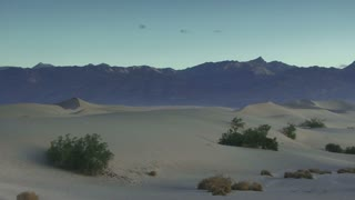 Dunes 005: A soft desert wind blows over Death Valley sand dunes.