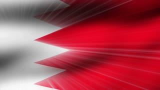 Flag FX0108: Close-up flag of Bahrain ripples in a breeze (Loop).