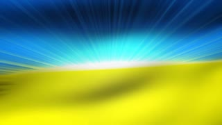 Flag FX0911: Close-up flag of Ukraine ripples in a breeze (Loop).
