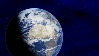 Global 0501: The planet earth rotates in star-filled space (Loop).