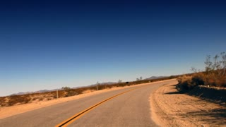 Highway 0209: A time lapse drive down a desert highway.