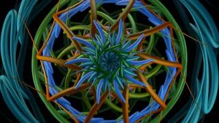 Kaleido 1007: Kaleidoscopic video background (Loop).