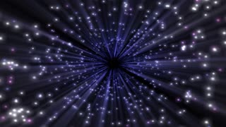 Light Swarm 0311: Moving into a blue and white starburst (Loop).