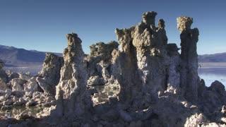 Mono Lake 010: A strange landscape of Tufa columns at Mono Lake, California.