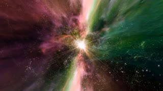 Space 2162: Traveling through star fields and galaxies in space (Loop).