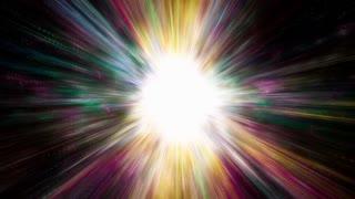 Space 2218: A Supernova bursts light (Loop).