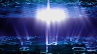 Streaming digital data with light beams (Video Loop).
