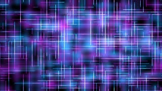Text and Grids 0106: White lines move on a blue and purple background (Video Loop).