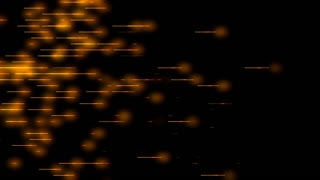 Text and Grids 0204: Orange lights pulse along yellow lines on a black background (Video Loop).