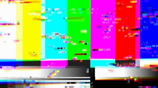 TV color bars with a digital malfunction (Loop).