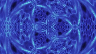 Video Background 1065: Abstract blue forms pulse, ripple and flow (Loop).