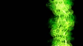 Video Background 1089: Abstract fluid forms pulse, ripple and flow (Loop).