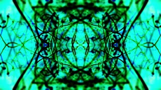 Video Background 1267: Abstract Rorschach imagery forms and flows (Loop).
