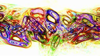 Video Background 1272: Abstract fluid forms pulse, ripple and flow (Loop).