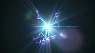 Video Background 1318: Glowing plasma sparks and flickers with electricity (Loop).