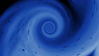 Video Background 1414: An abstract blue vortex twists and swirls (Loop).