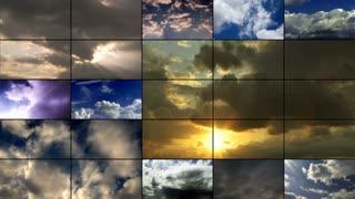 Video Wall 002: Clouds (Loop).