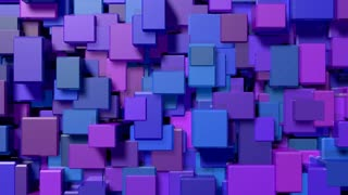 Blue cubes extrude and shift (Loop).